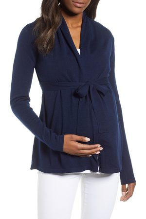 Angel Maternity Women's Wool Blend Maternity Cardigan