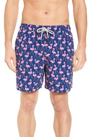 Tom & Teddy Men's Flamingo Print Swim Trunks