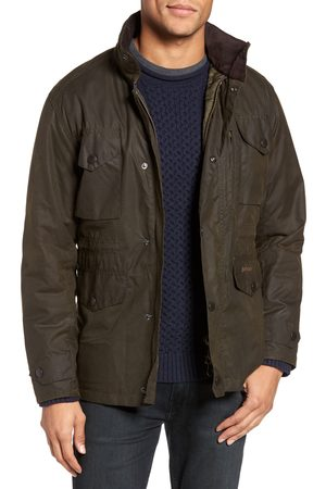 Barbour Men's Sapper Regular Fit Weatherproof Waxed Cotton Jacket