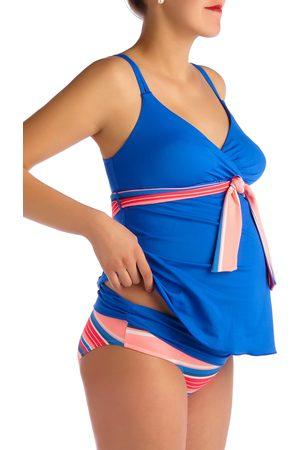 Pez D'Or Women's Devon Striped Two-Piece Maternity Swimsuit