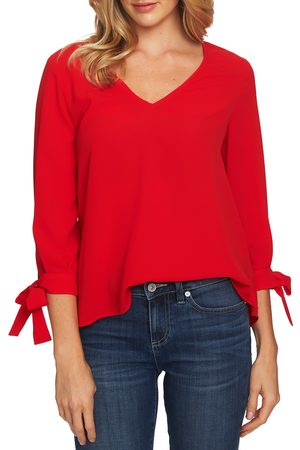 CeCe Women's Tie Sleeve Top