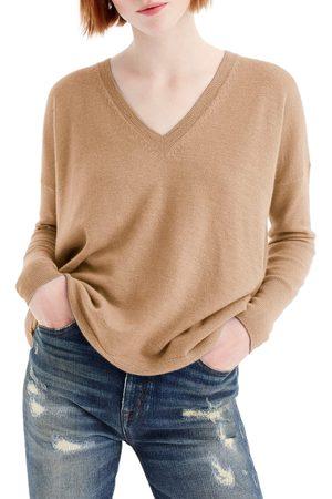 J.Crew Women Sweaters - Women's V-Neck Boyfriend Cashmere Sweater