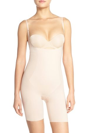 SPANXR Women's Spanx Thinstincts Open Bust Mid Thigh Bodysuit