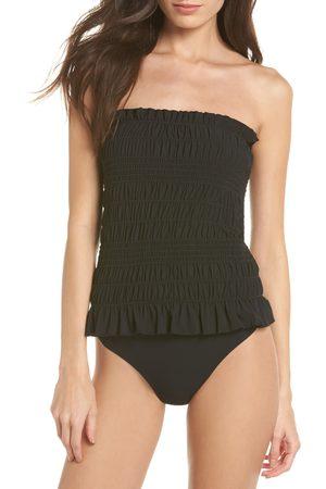 Tory Burch Women's Costa Smocked One-Piece Swimsuit