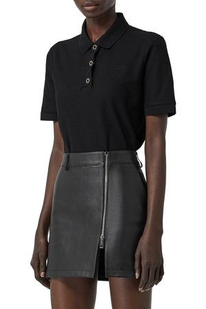 Burberry Women's Malleco Logo Pique Polo