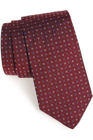 GITMAN Men's Geometric Silk Tie