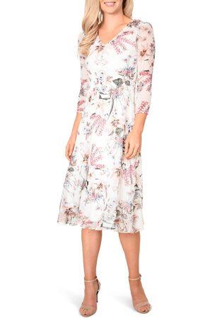 Komarov Women's Floral Chiffon Midi Dress