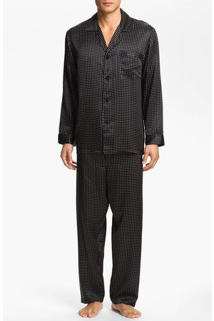 Majestic Men's Dot Silk Pajamas
