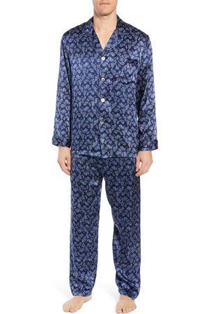 Majestic Men's Sapphire Silk Pajama Set