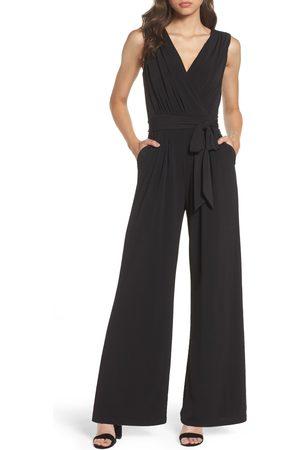 Vince Camuto Petite Women's Faux Wrap Jersey Jumpsuit