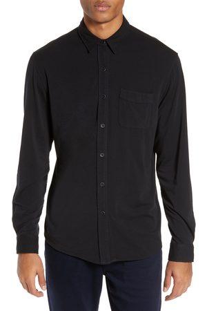 Paige Men's Stockton Slim Fit Long Sleeve Jersey Sport Shirt