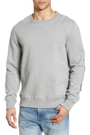 BILLY REID Men's 'Dover' Crewneck Sweatshirt With Leather Elbow Patches