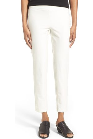 Eileen Fisher Women's Stretch Crepe Slim Ankle Pants