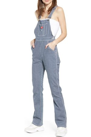 Dickies Women's Hickory Stripe Overalls