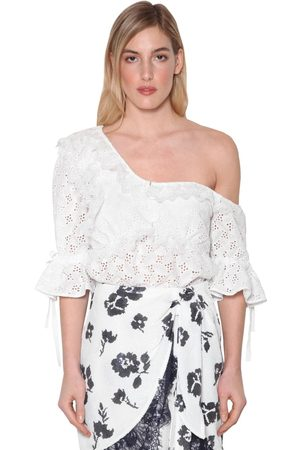 Self-Portrait Leaf Techno Lace Blouse