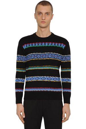 Kenzo Wool Intarsia Crewneck Sweater