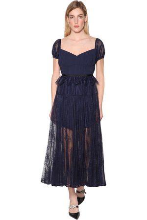 Self-Portrait Techno Floral Lace Dress