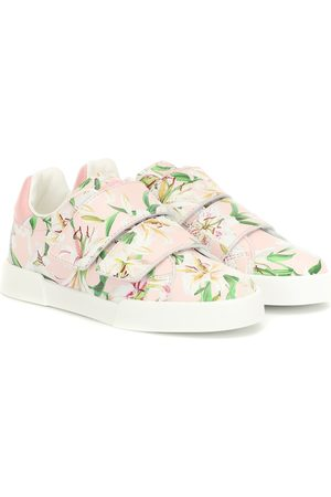 Dolce & Gabbana Floral leather sneakers