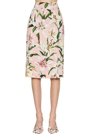 Dolce & Gabbana Printed Cady Stretch Pencil Skirt