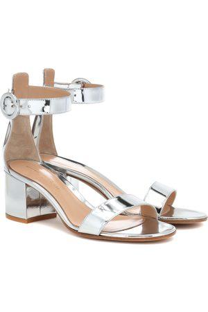 Gianvito Rossi Versilia 60 metallic leather sandals