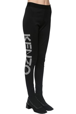 Kenzo Logo Print Stretch Cotton Leggings