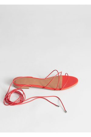 & OTHER STORIES Leather Lace Up Sandals