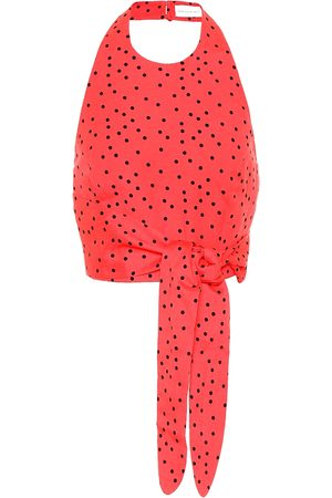 Rebecca Vallance Holliday linen-blend polka-dot top