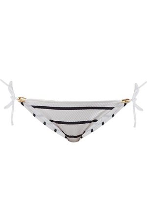 Heidi Klein Women Bikinis - Side-tie Striped Bikini Briefs - Womens - Multi