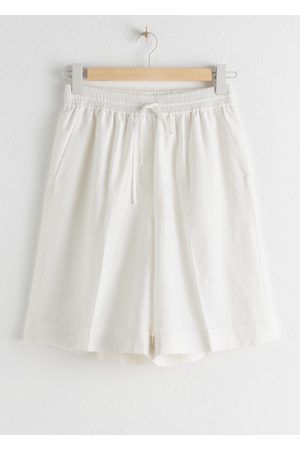 & OTHER STORIES Drawstring Linen Blend Shorts