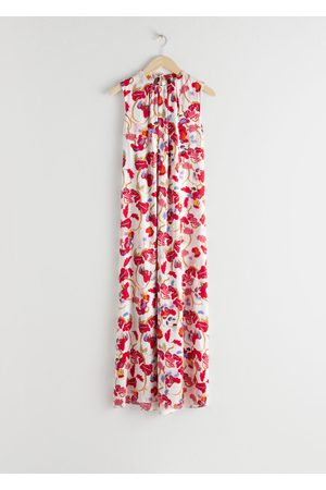 & OTHER STORIES Open Tie Back Midi Dress
