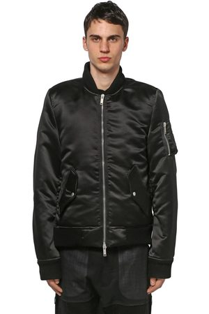 UNRAVEL Tech Satin Tuxedo Bomber Jacket