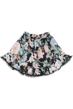 ZIMMERMANN Verity Floral Print Cotton Skirt
