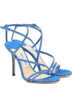 Jimmy choo Dudette 100 embellished suede sandals