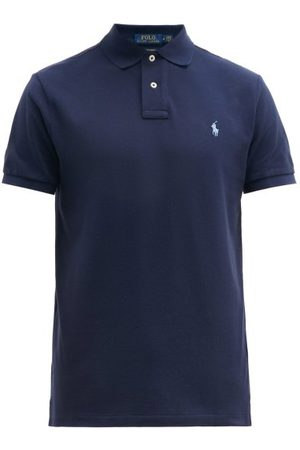 Polo Ralph Lauren Custom Slim-fit Logo-embroidered Cotton Polo Shirt - Mens - Navy