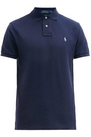 Polo Ralph Lauren Men Polo Shirts - Custom Slim-fit Logo-embroidered Cotton Polo Shirt - Mens - Navy