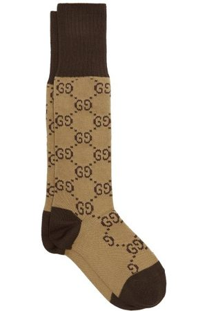 Gucci Gg Intarsia Cotton Blend Socks - Womens - Multi
