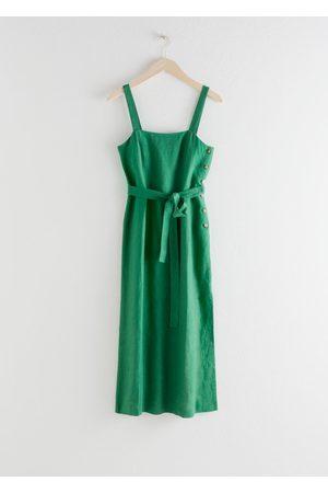& OTHER STORIES Women Midi Dresses - Belted Linen Midi Dress