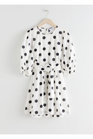 & OTHER STORIES Belted Polka Dot Mini Dress