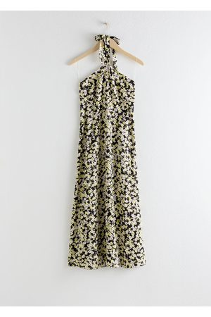 & OTHER STORIES Women Printed Dresses - Floral Halter Midi Dress