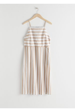 & OTHER STORIES Women Midi Dresses - Striped Cotton Midi Dress