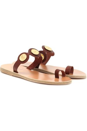 Ancient Greek Sandals Evelina Coin leather sandals