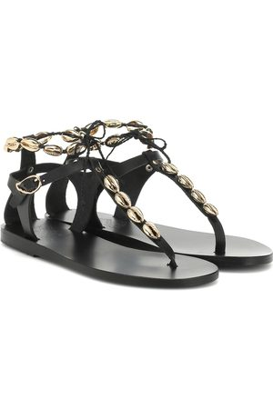 Ancient Greek Sandals Chrysso Shells leather sandals