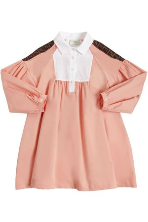Fendi Cotton Blend Poplin Shirt Dress