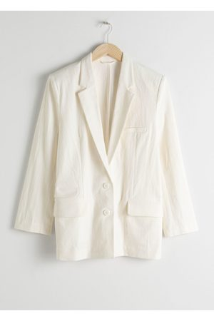 & OTHER STORIES Oversized Cotton Linen Blazer