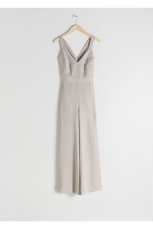 & OTHER STORIES Lyocell Criss Cross Back Jumpsuit