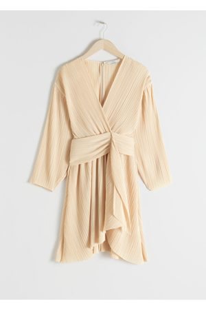 & OTHER STORIES Plissé Pleated Recycled Polyester Blend Dress