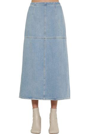 MM6 MAISON MARGIELA Women Midi Skirts - A Shape Cotton Denim Midi Skirt