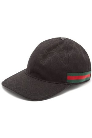 Gucci Men Caps - Web-stripe Gg Logo-jacquard Baseball Cap - Mens