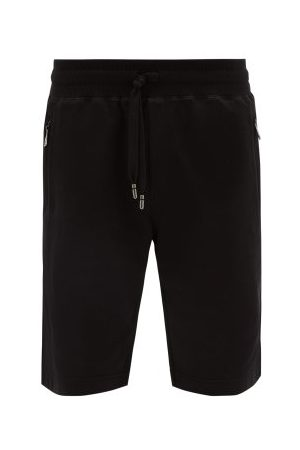 Dolce & Gabbana Logo-plaque Cotton-jersey Shorts - Mens