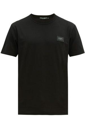 Dolce & Gabbana Logo-plaque Cotton-jersey T-shirt - Mens